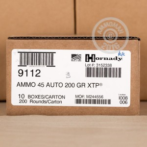 Picture of 45 ACP HORNADY CUSTOM 200 GRAIN XTP JHP (200 ROUNDS)
