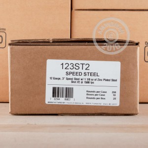 "Picture of 12 GAUGE FIOCCHI SPEED STEEL 3"" 1-1/8 OZ. #2 SHOT (25 ROUNDS)"