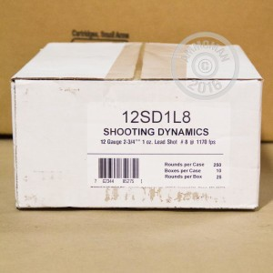 "Picture of 12 GAUGE FIOCCHI TARGET SHOOTING DYNAMICS 2-3/4"" 1 OZ. #8 SHOT (250 ROUNDS)"