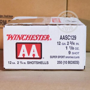 """Picture of 12 GAUGE 2-3/4"""" WINCHESTER SPORT CLAY 1-1/8 OZ  #9 AA (250 ROUNDS)"""