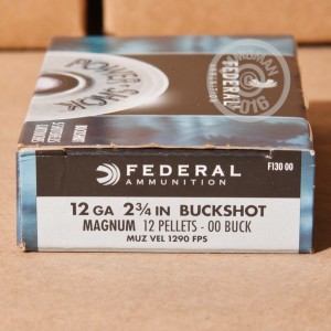 "Picture of 12 GAUGE FEDERAL POWER-SHOK 2-3/4"" 00 BUCK (5 ROUNDS)"