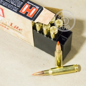 Picture of 7MM-08 HORNADY CUSTOM LITE 120 GRAIN JHP (20 ROUNDS)