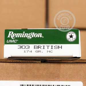 Picture of .303 BRITISH REMINGTON UMC 174 GRAIN MC (20 ROUNDS)
