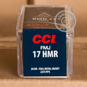 Picture of 17 HMR CCI 20 GRAIN FMJ (50 ROUNDS)