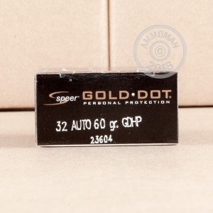 Picture of 32 ACP SPEER GOLD DOT 60 GRAIN JHP (20 ROUNDS)