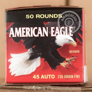 Picture of 45 ACP FEDERAL AMERICAN EAGLE (TRAYLESS) 230 GRAIN FMJ (50 ROUNDS)