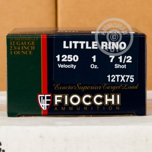 "Picture of 12 GAUGE FIOCCHI LITTLE RINO 2-3/4"" #7.5 SHOT (250 ROUNDS)"