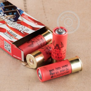 "Picture of 12 GAUGE HORNADY AMERICAN WHITETAIL 2-3/4"" 1 OZ. RIFLED SLUG (5 ROUNDS)"