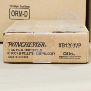 """Picture of 12 GAUGE WINCHESTER SUPER-X 2-3/4"""" #00 BUCK 9 PELLETS (150 ROUNDS)"""