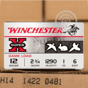 "Picture of 12 GAUGE WINCHESTER SUPER-X 2-3/4"" 1 OZ. #6 LEAD SHOT (25 ROUNDS)"