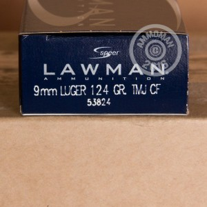 Picture of 9MM SPEER LAWMAN 124 GRAIN TMJ CLEANFIRE (50 ROUNDS)