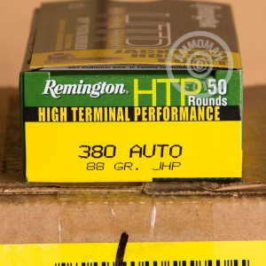 Picture of 380 AUTO REMINGTON HTP 88 GRAIN JACKETED HOLLOW POINT (50 ROUNDS)