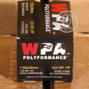 Picture of 7.62X39 WOLF WPA POLYFORMANCE 123 GRAIN HP (20 ROUNDS)