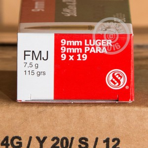 Picture of 9MM LUGER SELLIER & BELLOT POLICE 115 GRAIN FMJ (50 ROUNDS)