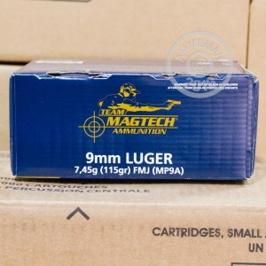 Picture of 9MM LUGER MAGTECH 115 GRAIN FMJ (250 ROUNDS)