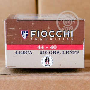 Picture of 44-40 WCF FIOCCHI 210 GRAIN LRNFP (500 ROUNDS)