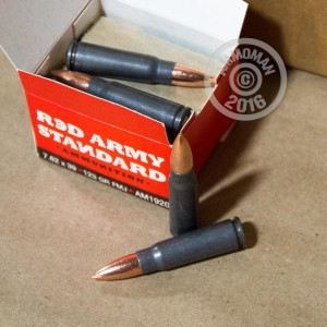 Picture of 7.62X39 RED ARMY STANDARD 123 GRAIN FMJ (180 ROUNDS)