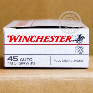 Picture of 45 ACP WINCHESTER USA 185 GRAIN FMJ (500 ROUNDS)