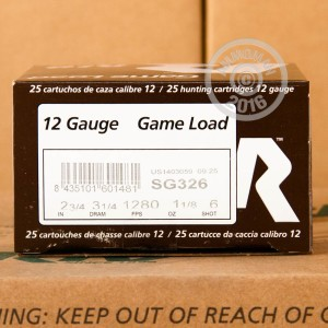 "Picture of 12 GAUGE RIO AMMUNITION GAME LOAD 2-3/4"" 1-1/8 OZ. #6 SHOT (25 ROUNDS)"