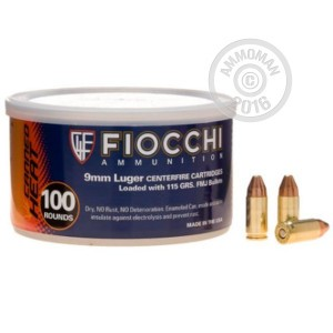 Picture of 9mm - 115 gr FMJ - Fiocchi Canned Heat - 1000 Rounds