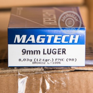 Picture of 9MM LUGER MAGTECH 124 GRAIN FMJ (1000 ROUNDS)