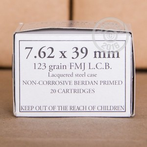 Picture of WOLF WHITE BOX 7.62x39 MILITARY GRADE AMMO 123 GRAIN FMJ (1000 ROUNDS)
