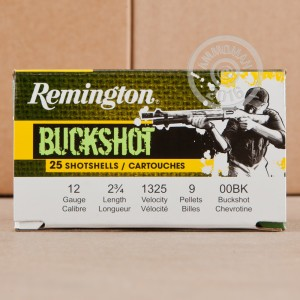 "Picture of 12 GAUGE REMINGTON EXPRESS 2-3/4"" 00 BUCK (25 SHELLS)"