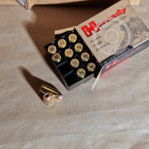 Picture of 40 S&W HORNADY 155 GRAIN XTP JACKETED HOLLOW POINT (200 ROUNDS)