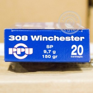 Picture of .308 WIN PRVI PARTIZAN 150 GRAIN SOFT POINT (20 ROUNDS)
