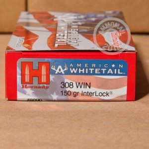 Picture of .308 WINCHESTER HORNADY AMERICAN WHITETAIL 150 GRAIN SP (20 ROUNDS)