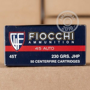Picture of 45 ACP FIOCCHI 230 GRAIN JHP (500 ROUNDS)