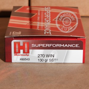 Picture of 270 WINCHESTER HORNADY SUPERFORMANCE 130 GRAIN SST (20 ROUNDS)