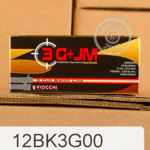 "Picture of 12 GAUGE FIOCCHI 3 GUN MATCH 2-3/4"" 00 BUCK (250 ROUNDS)"