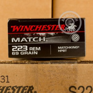 Picture of 223 REMINGTON WINCHESTER MATCH 69 GRAIN BTHP (20 ROUNDS)