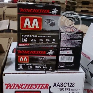 "Picture of 12 GAUGE WINCHESTER AA SUPER SPORT SPORTING CLAYS 2-3/4"" 1-1/8 OZ. #8 SHOT (25 ROUNDS)"