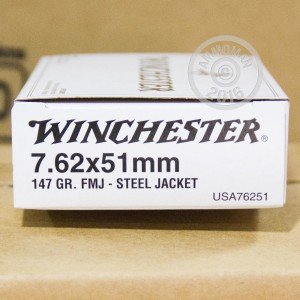 Picture of 7.62 NATO WINCHESTER 147 GRAIN GRAIN FMJ (20 ROUNDS)