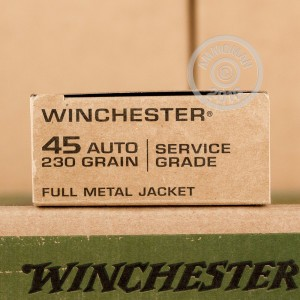 Picture of 45 ACPWINCHESTERSERVICE GRADE WOOD BOX230 GRAIN FMJ(200ROUNDS)