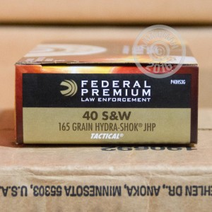 Picture of .40 S/W FEDERAL HYDRA SHOK 165 GRAIN JHP (1000 ROUNDS)