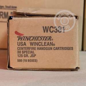 Picture of 38 SPECIAL WINCHESTER WINCLEAN 125 GRAIN JSP (50 ROUNDS)