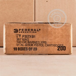 Picture of 357 MAGNUM FEDERAL VITAL-SHOK BARNES EXPANDER 140 GRAIN SCHP (20 ROUNDS)