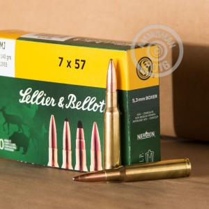 Picture of 7X57MM MAUSER SELLIER & BELLOT 140 GRAIN FMJ (20 ROUNDS)