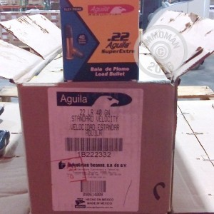 Picture of .22 LR AGUILA 40 GRAIN LRN (500 ROUNDS)