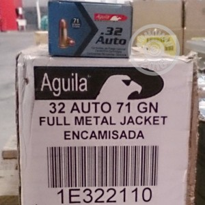 Picture of 32 ACP AGUILA 71 GRAIN FMJ (50 ROUNDS)