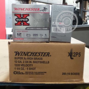 """Picture of 12 GAUGE WINCHESTER SUPER-X 2-3/4"""" 1-1/4 OZ. #5 SHOT (25 ROUNDS)"""