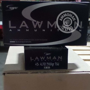 Picture of 45 ACP SPEER LAWMAN 200 GRAIN TMJ (1000 ROUNDS)