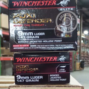 Picture of 9MM LUGER WINCHESTER BONDED 147 GRAIN JHP (200 ROUNDS)