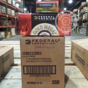 Picture of 223 REMINGTON FEDERAL PREMIUM GOLD MEDAL 77 GRAIN HPBT (20 ROUNDS)