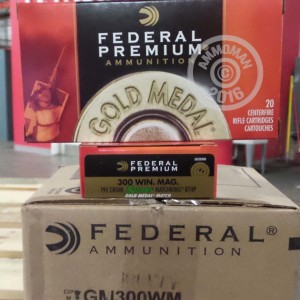 Picture of 300 WIN MAG FEDERAL PREMIUM GOLD MEDAL 190 GRAIN SIERRA MATCHKING BTHP (20 ROUNDS)