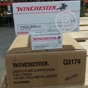 Picture of 7.62X39MM WINCHESTER 123 GRAIN FULL METAL JACKET (200 ROUNDS)