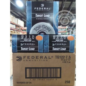 "Picture of 12 GAUGE FEDERAL TARGET LOAD 2 3/4"" 1 OZ. #7.5 SHOT (250 ROUNDS)"